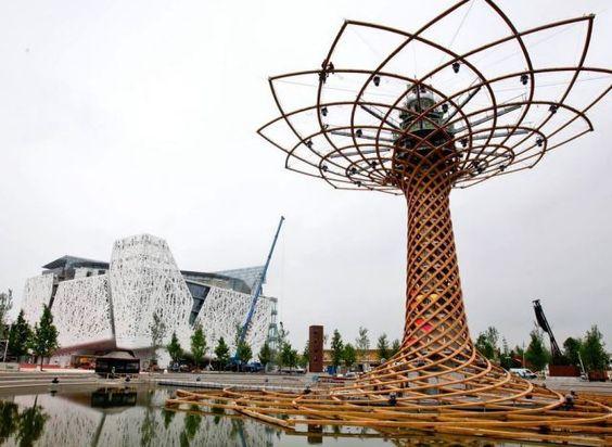 Italie - l'arbre de vie - Exposition universelle Milan 2015
