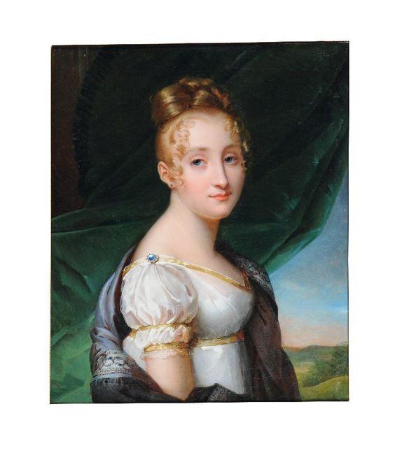 Portrait présumé de Madame Blanche de Buffault, entourage du Baron Francois Gerard, early 19th century: