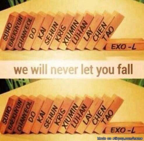 EXO-L will support you all until the world end ! | allkpop Meme Center