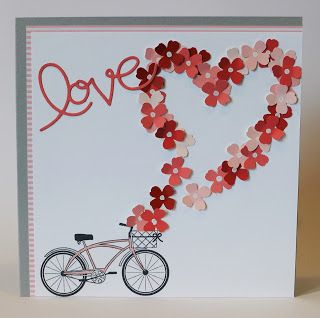 Karte Valentinstag / Valentine Card, Stampin Up, Itty Bitty Akzente Stanzenpaket / Accents Punch Pack, Pedal Presents