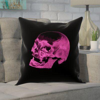Brayden Studio Enciso Skull Pillow Cover Skull Pillow Skull Throw Pillows Pillow Covers