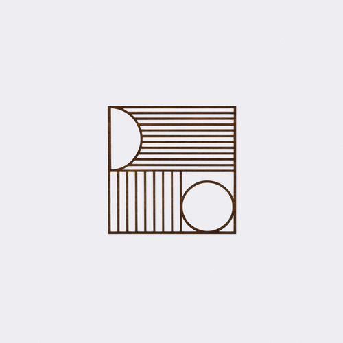 Outline Square Trivet By Ferm Living 2modern Ferm Living Modern Kitchen Accessories Authentic Design
