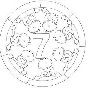 number 7 mandala coloring: