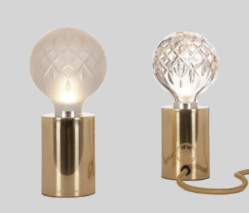 Lee Broom Clear Frosted Crystal Bulb Table Lamp Table Lamp Lamp Bulb