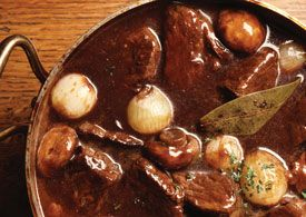 Braised Beef Stew with Mixed Mushrooms
