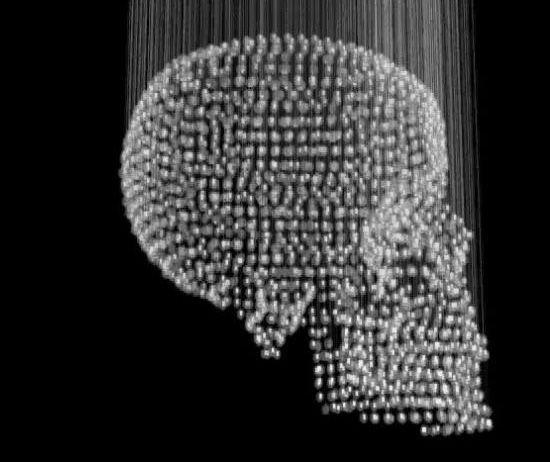 Kelly Lamb - Skull Chandelier