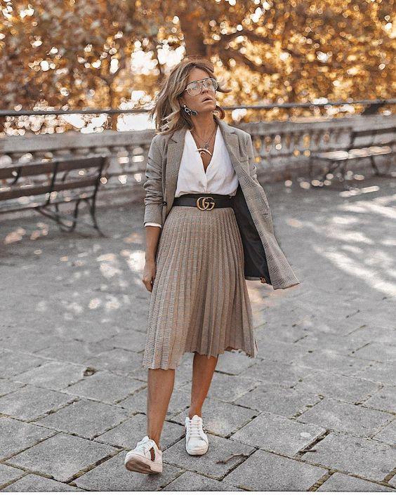 Юбка плиссе: 14 свежих идей с чем носить плиссировку в 2019-ом   Новости моды