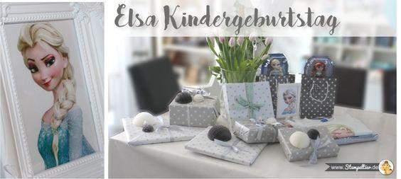 elsa frozen eiskönigin kindergeburtstag Bilderrahmen deko stampin