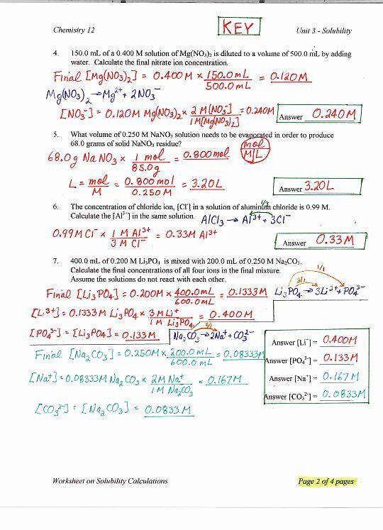 Ph Worksheet Answers - worksheet