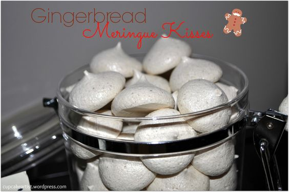 Gingerbread Meringues for the holidays!