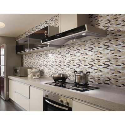 12 In X 12 In Multi Color Self Adhesive Decorative Wall Tile Backsplash For Kitchen 10 Pack In 2020 Plastic Tile Tile Backsplash White Kitchen Backsplash