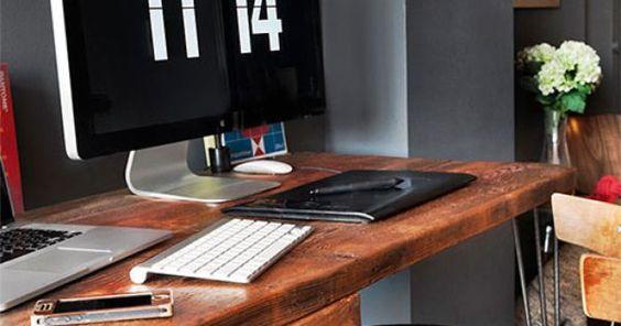 Ideas about home office organization: Home tour appartement Chelsea Manhattan.  Une déco pleine de charme.