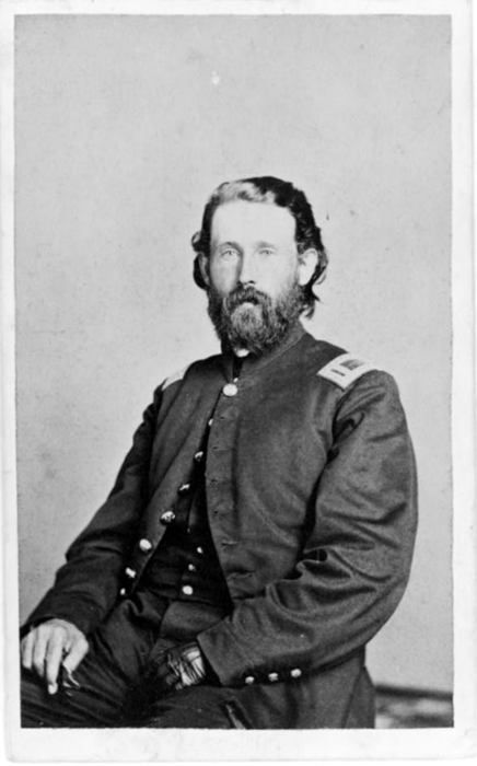 ca. 1860-70, [Unidentified Union officer with left hand prostheses]