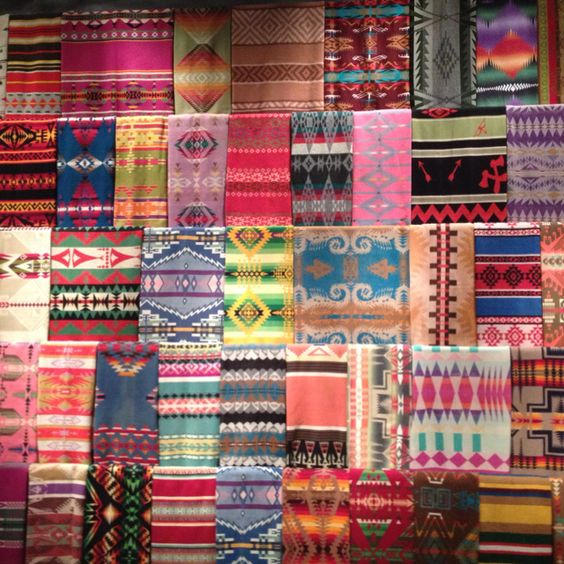 Pendleton blankets at Chihuly Garden and Glass