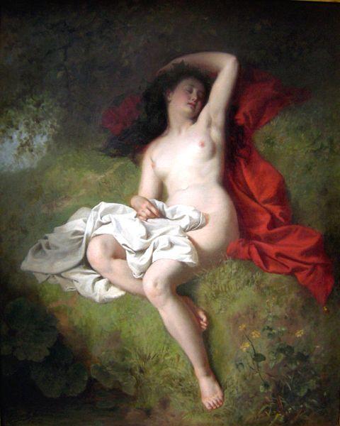 Carl Adolf Gugel (1820 – 1885, German)Rest After The Bath