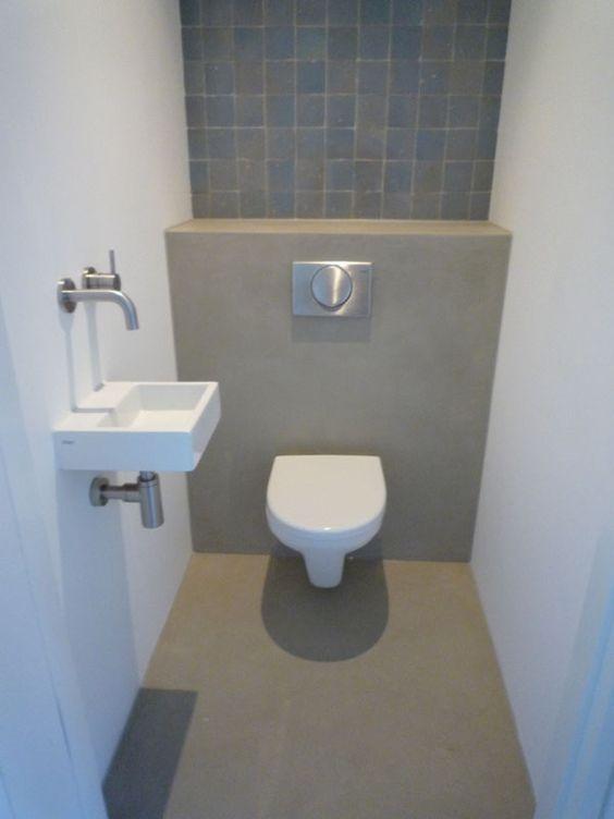 Inspiratie betonlookdesign interesse in betonstuc betoncire tadelakt leem freshcolori - Wc muur tegel ...