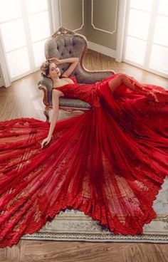 Gorgeous Jewel Tone Wedding Gown