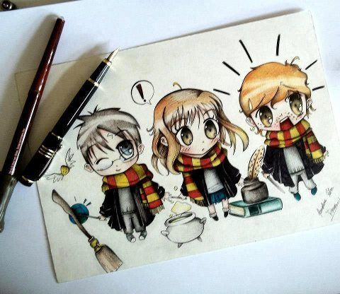 Such A Cute Harry Potter Drawing Arts Pinterest