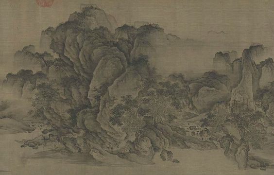 Streams and Mountains Without End (detail), 1100–1150. China, late Northern Song dynasty (960–1127) to the Jin dynasty (1115–1234). Handscroll, ink and slight color on silk; 35.1 x 1,103.8 cm. Gift of the Hanna Fund 1953.126.