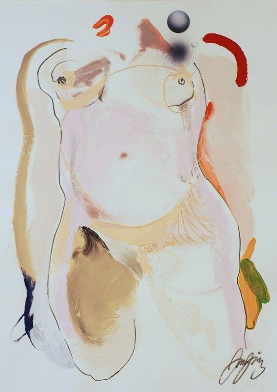 transistoradio: Juan Sanchez-Juarez (b.1946), La Linda (The Pretty One) (2004), acrylic, 55.9 x 76.2 cm. Via Artsy.