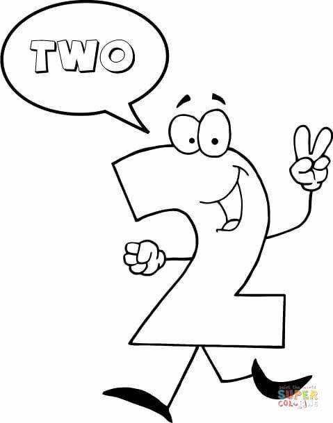 Coloring Sheet Number 2 In 2020 Free Printable Coloring Pages Coloring Pages Free Printable Numbers