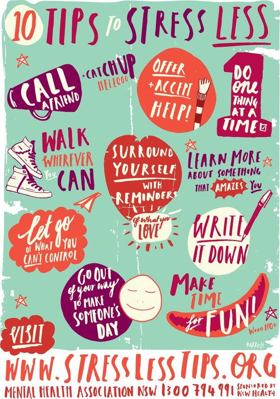 10 Tips to Stress Less!