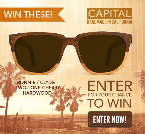 """Just """"Like"""" the Headlines & Heroes Facebook page, sign up for our newsletter, and you'll be entered into the Capital Handmade Sunglasses Sweepstakes.   Find Hundreds of the Latest Sweepstakes & Contests Updated Daily. Start Winning Cash & Prizes Today! http://sweepstakes13.com/register"""