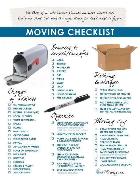 Easy Transferring Guidelines Template Excel In 2020 Moving Day Moving House Moving Tips
