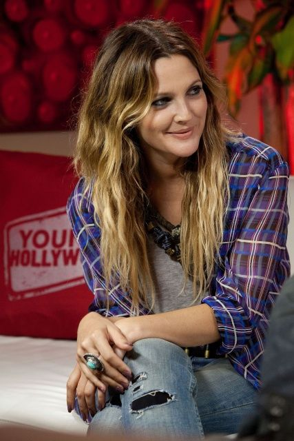 Drew Barrymore.... I admire the person she is and the obstacles she jumped through !!