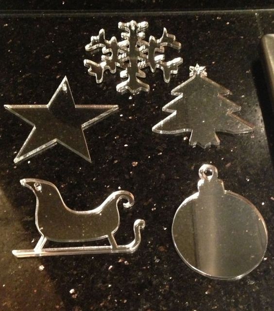 Set of 5 Christmas Tree Ornaments by LaserWorksStudio
