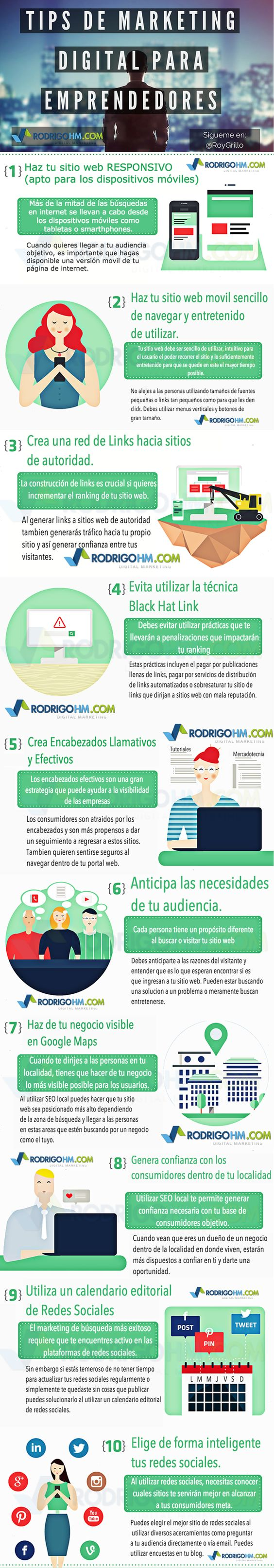 Tips de marketing digital para emprendedores