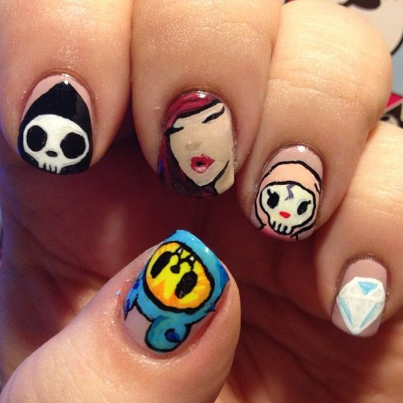My nails of the day <3 #tokidoki rules. #notd #nailoftheday