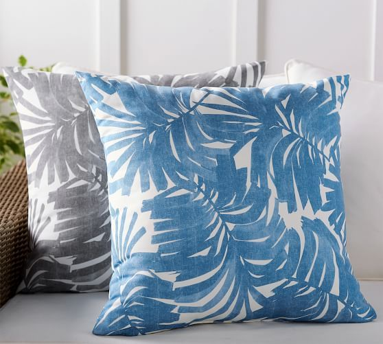Indoor Outdoor All Over Palm Pillow Palm Pillow Outdoor Pillows Front Porch Decorating