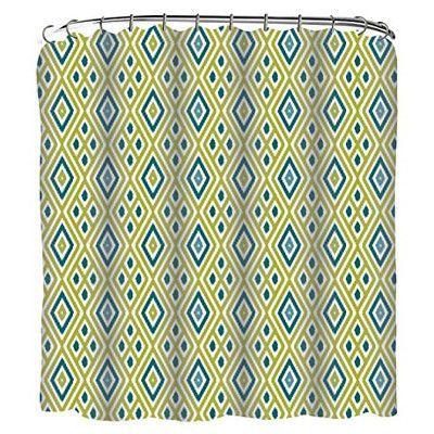 Luxury Home Diamons Ikat Printed Shower Curtain