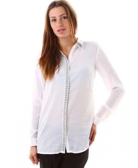 Дамска риза в бяло от Reserved | http://shopzone.bg/womens/85238/Дамска-риза-в-бяло-от-Reserved?filter_manufacturer_id=163