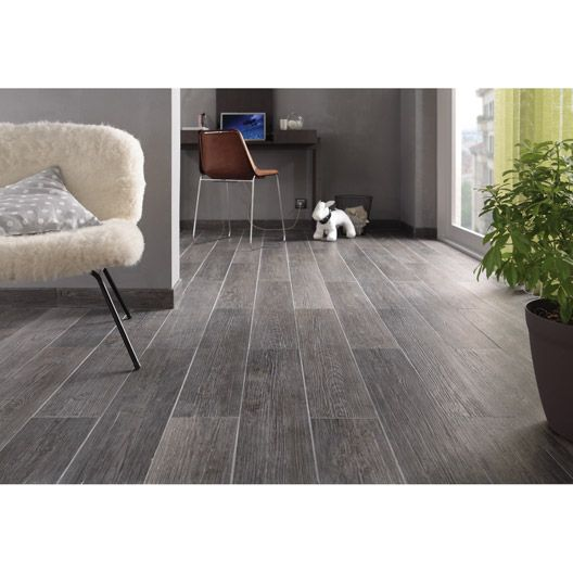 Carrelage int rieur naturalia en gr s c rame anthracite for Carrelage gris interieur