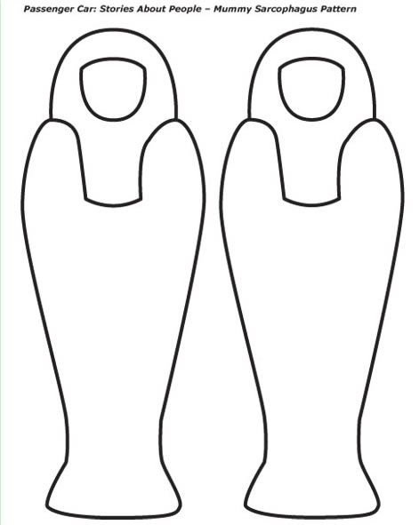 egyptian mummy case template mummy coloring pages crafted here