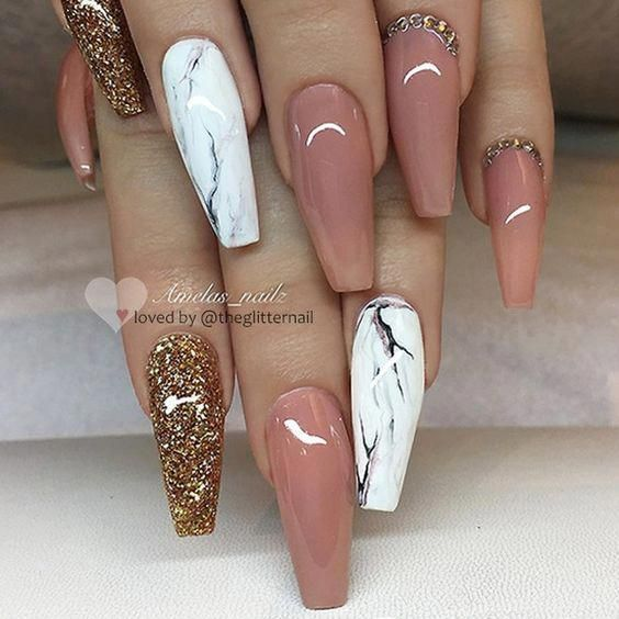 The Acrylic Coffin Nail Designs Ideas are so perfect for