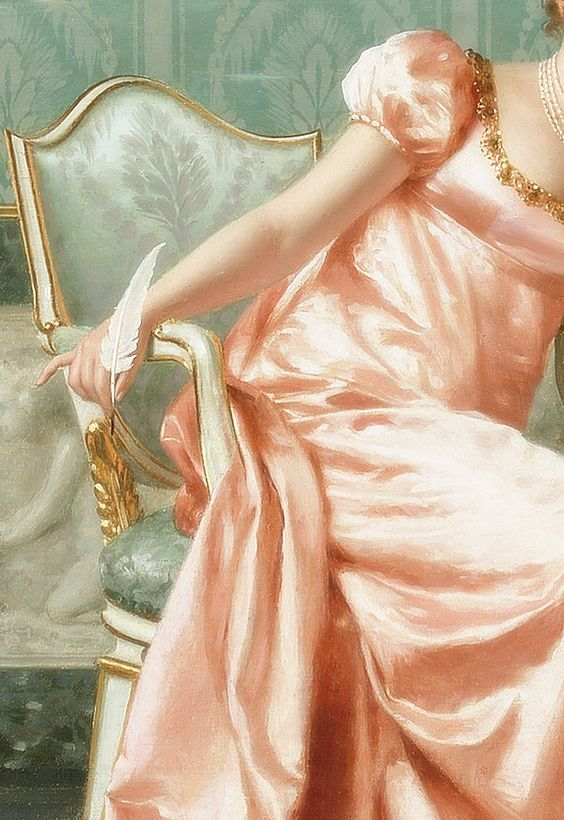 Composing a Letter, (Detail) by Vittorio Reggianini.