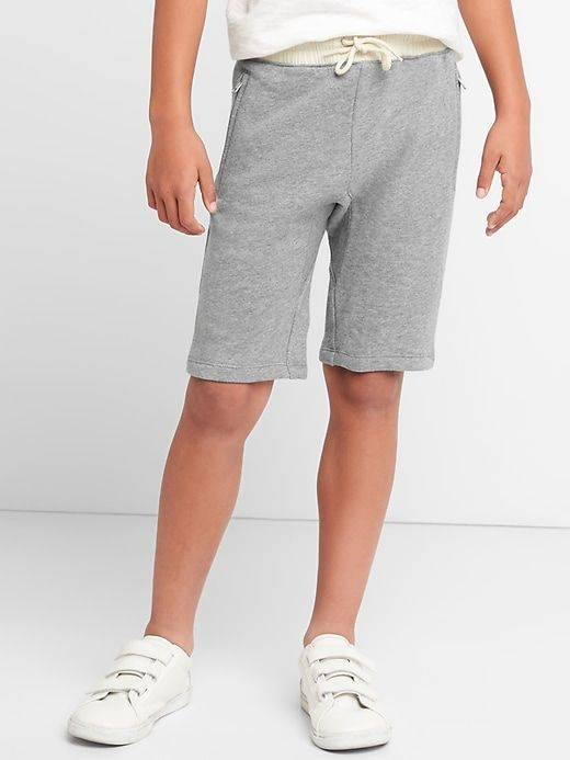 Gap Boys Pull On Shorts In French Terry Grey Heather