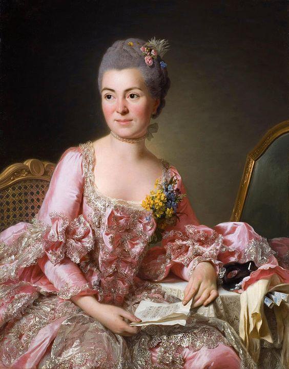 The Artist Marie Suzanne Giroust Painting by Alexander Roslin. 1718–1793 Swedish, Scandinavian