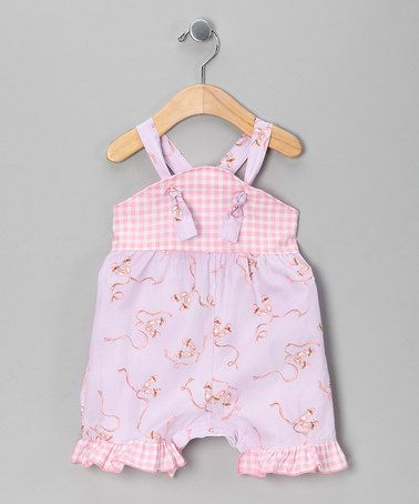 Take a look at this Lavender Ballerina Shortalls - Infant by Ruby and Rosie on #zulily today!