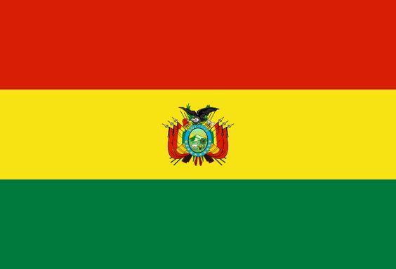 Bandera del Estado Plurinacional de Bolivia.
