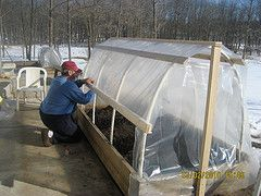 Raised bed hoophouse for extended-season growing