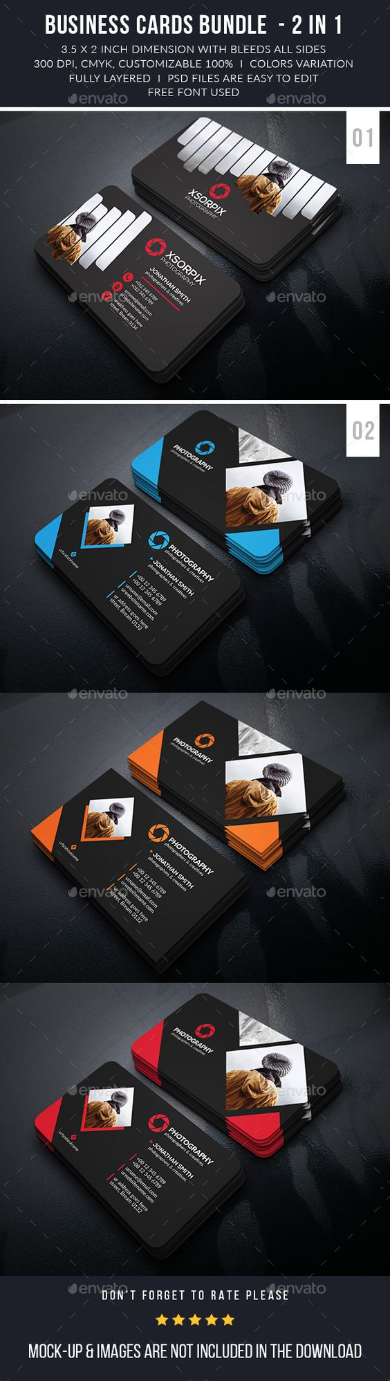 Photography Business Cards Bundle
