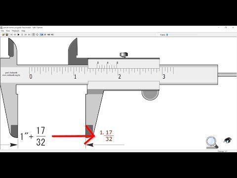 Como Medir Con Un Pie De Rey O Vernier En Fracciones De Pulgada Simulador Herramientas Basicas Para Carpinteria Herramientas De Soldadura Puertas De Acero