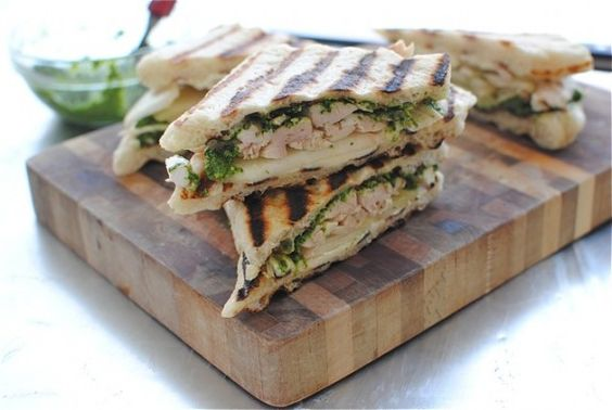 Chicken, Pear and Brie Panini