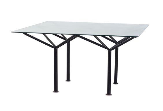 'Ponte d'acqua' table, 1981- Laura de Lorenzo, Stefano Stefani. Made by Pallucco
