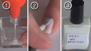 fabriquer une base peel off pour enlever facilement le vernis