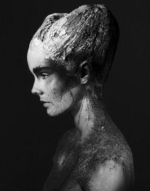 black-white-madness:    Madness:    Julia Valimaki is a Work of Art for Wonderland September/October 2012 by Bjarne Jonasson